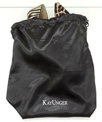 "Kay Unger Shoe Bags Drawstring bags Travel Shoe Bags Dust Bags Black 12"" X 12"""