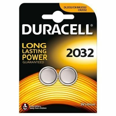 2 x Duracell CR2032 3V Lithium Button Battery Coin Cell DL/CR/BR 2032 ~ Exp 2026