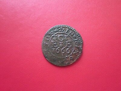Edmund Chandler Kings Sutton Northamptonshire 1666 Halfpenny Token Only Issuer