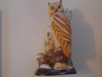 "Ceramic Owl Statue - 10 1/2"" Tall - Excellent Condition"
