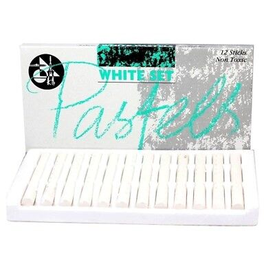 12 Set Jakar All White Artist Pastels Sketching Art Chalk Sticks Drawing Sketch