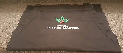 STARBUCKS COFFEE MASTER APRON Vintage Beans and Leaves BLACK  New without Tag