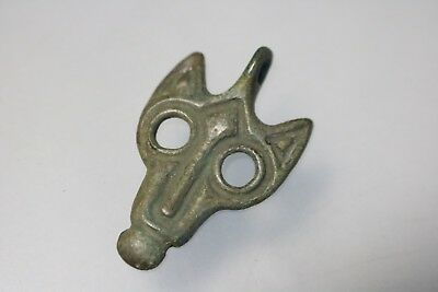 Ancient Viking Scandinavian Bronze Wolf Amulet 8-10th Century AD.