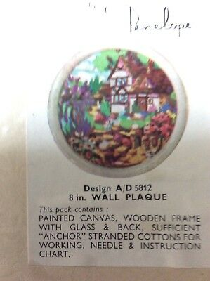 """Vintage Penelope tapestry kit to make a 8"""" wall plaque design A/D 5812"""