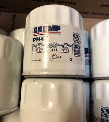 10 Engine Oil Filter Champ/Champion Lab PH47 Fit Ph3387A L10111 V111 MO111 51040
