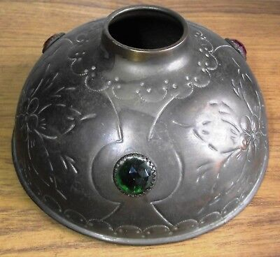 "A Beautiful Arts And Crafts Movement, Art Nouveau Copper 7"" Dia Oil Lamp Cover"