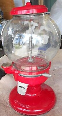 Vintage Red Carousel Gumball Penny Vending Machine Chicago Made