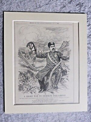 Vintage Punch Cartoon: The Shah Of Persia Dissolves Parliament, 1908.