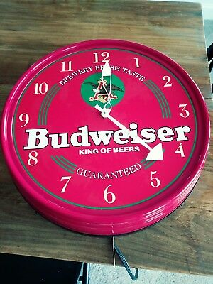 Nice Advertising Budweiser Wall Clock And Light