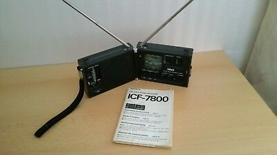 Top Rarität SONY ICF - 7800 3 Band Receiver Radio FM/SW/MW Made in Japan