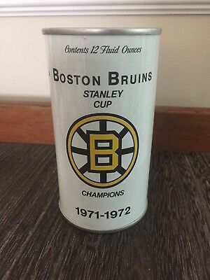 RARE Sample Beer Can Boston Bruins Hockey Stanley Cup Champ 1972 Unopened Empty