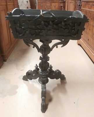 Antique Swiss Black Forest Carved Twig Planter Jardiniere Flower Holder