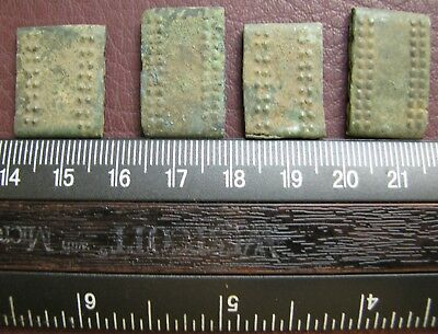 Authentic Ancient Lake Ladoga VIKING Artifact > Bronze Belt Decorations AU 3C