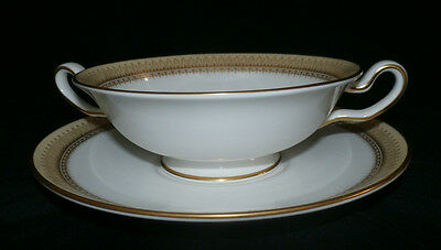 Spode Countess Footed Cream Soup & Saucer - Y8155 - 2 Sets Available