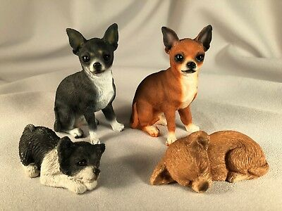 Lot Of 2 Conversation Concepts And 2 Sandicast Chihuahua Dog Figurines