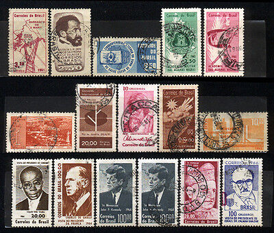 1961-1966 Brazil Set Of 16 Used Stamps