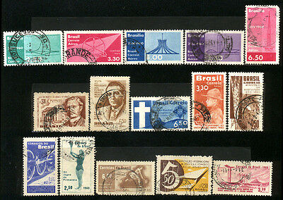 1960 Brazil Set Of 15 Used Stamps