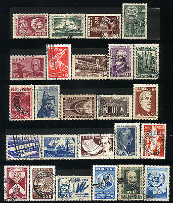 1958 Brazil Set Of 25 Used Stamps
