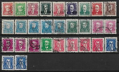 1954-1961 Brazil Set Of 29 Used Stamps