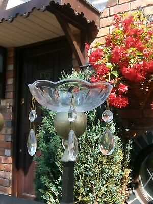 Glass bobeche dish, chandelier spares and repairs with glass droppers