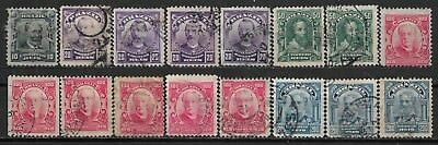 1906 BRAZIL SET OF 1 MLH + 15 USED STAMPS (Michel # 163-167)