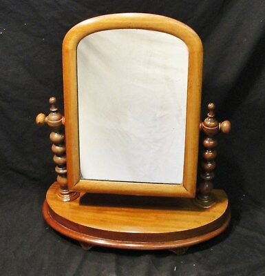 """1880s VICTORIAN """"TABLE TOP"""" SWING MIRROR with a MAHOGANY FRAME in vgc"""