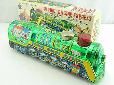 ST 1340 Piping Engine Express Tin Toy Loco Battery Japan 60er OVP 1605-05-04
