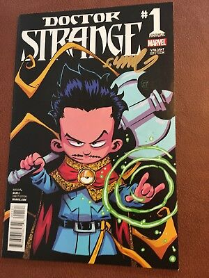 Doctor Strange #1 Annual Variant NM Signed By Skottie Young.