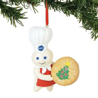 NEW 2018 Department 56 Pillsbury Doughboy with Cookie Christmas Ornament 6000385