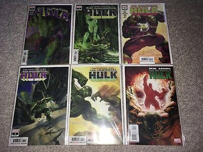 Marvel Immortal Hulk 1-5 Incredible Hulk #600 Set Lot Nm