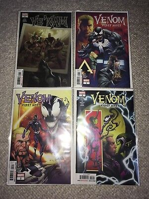 Marvel Venom First Host #1-3 Ve'nam #1 Set Lot Nm