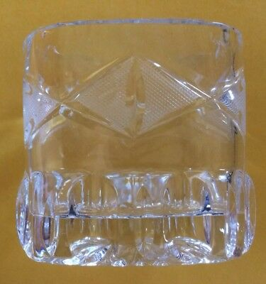 """Antique Heavy Cut Glass Oval Toothpick Holder/3.5"""" Tall/Very Ornate"""