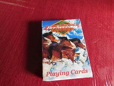 Vintage playing cards Budweiser Horses