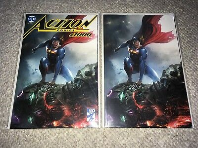ACTION Comics #1000 Variant Francesco Mattina Trade Virgin Set #1000-1002 NM+