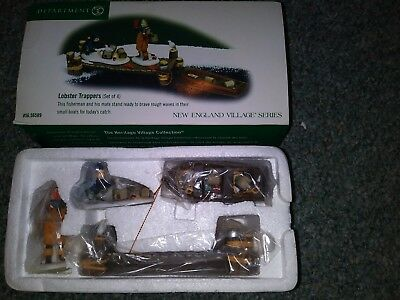 Dept 56 New England Village Lobster Trappers Set of 4 #56589 New in Box