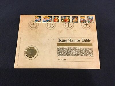 2011 Royal Mail Royal Mint PNC, King James Bible 400th Anniversary Coin/Stamp
