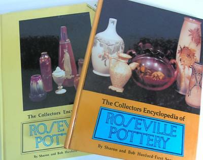 2 ROSEVILLE POTTERY COLLECTORS BOOKS BY SHARON & BOB HUXFORD 1st & 2nd SERIES