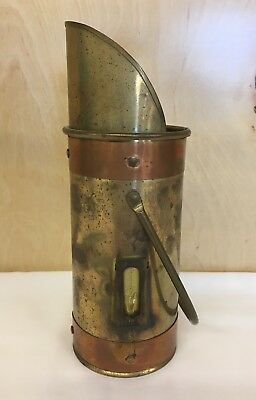 Antique Copper and Brass Coal Scuttle Scoop Handheld