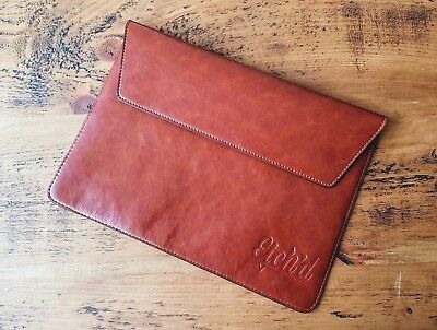 "Real Genuine Leather Laptop Sleeve Case 13"" (MacBook, Surface Pro, HP, Lenovo)"