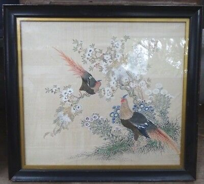 A VERY FINE ANTIQUE Chinese PAINTING of BIRDS.