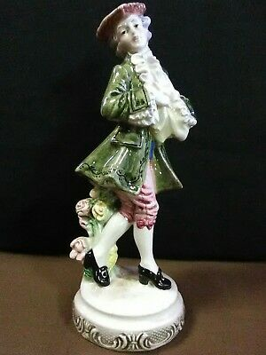 "Estate Find.Lovely Antique Italian Fine Porcelain Hand Painted""Courtier""Figurine"