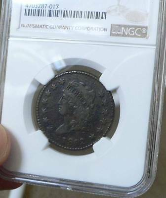 1812 Classic Head Large Cent  NGC VF details. Still very Sharp coin!