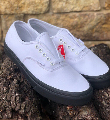 ed86aa9155 New! VANS Authentic Black Outsole True White Canvas VN0A38EMOB4 Men s Sizes