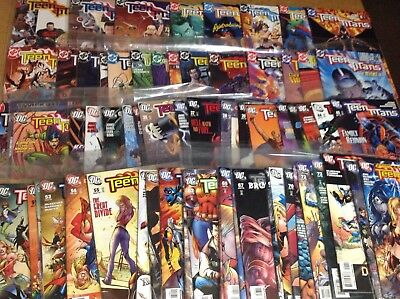 TEEN TITANS #'s 1-73 W/ SPECIALS! GEOFF JOHNS! MOVIE SOON! GREAT SHAPE! D.C.