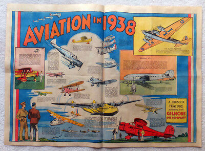 1938 Aviation Oddities The Gilmore Oil Company Cub Red Lion Gasoline John Hix