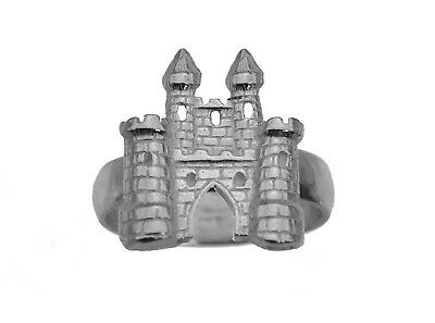 Fairy Tale medieval Sterling Silver 925 King Castle Jewelry Ring pick your Size