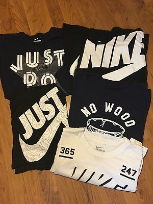 NIKE MENS CLEAN XL Extra Large Lot Of 5 NIKE FOOTBALL ATHLETIC T Tee Shirts NR