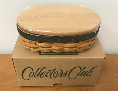 * NIB * Longaberger 2001 CC Harmony Basket Set No. 5 ~ WoodCrafts Lid Protector