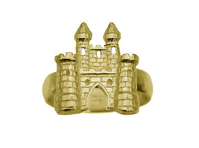 Fairy Tale medieval 24K Gold Plated King Castle Jewelry Ring pick your Size