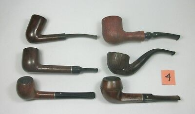 w4 Vintage Lot of Six Tobacco Smoking Pipes. Assorted Brands. Pre-owned.